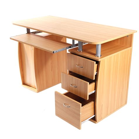 Computer Desk With Drawers by Home Office Computer Desk Laptop Pc Study Table With 3