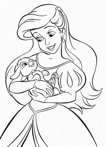 Disney Princess Coloring Walt Ariel Divyajanani