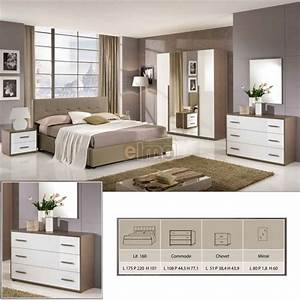 Chambre adulte moderne 5 pieces facades laquees aurora for Chambre à coucher adulte moderne avec promo matelas eve