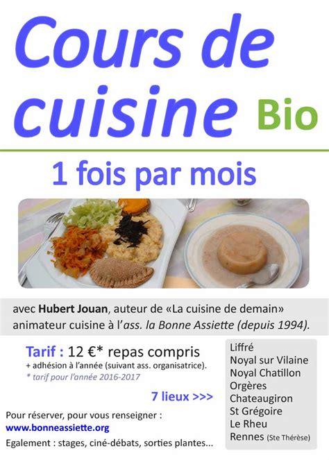 cours de cuisine bio ibb ateliers de cuisine bio avec la bonne assiette ibb