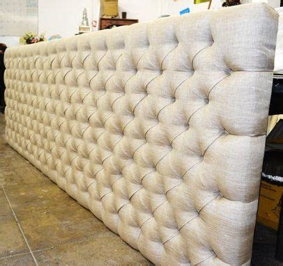 hand crafted custom  tufted wall panel  love  home