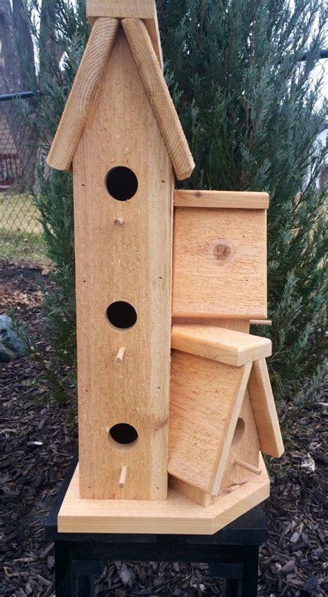 large cedar wood outdoor birdhouse condo bird house bird house bird houses bird house feeder
