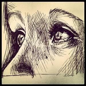 Pen and ink art of beautiful eyes | Ink Drawings ...