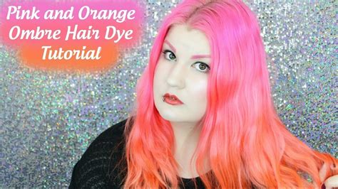 Pink And Orange Ombre Hair Dye Tutorial Youtube