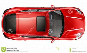 Red sports car - top view stock image. Image of studio ...