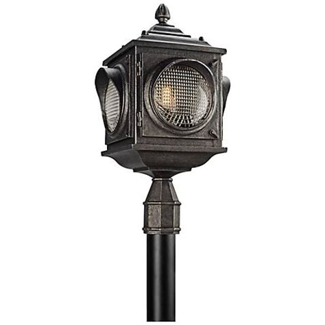 24 1 4 quot high vintage pewter outdoor post light