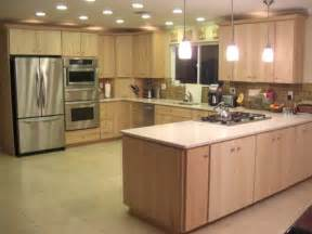 Pickled Oak Cabinets Wall Color by Modern Natural Maple Modern Kitchen Sacramento By