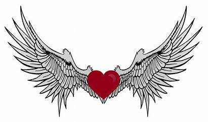 Wings Hearts Heart Clipart Coloring Pages Cliparts