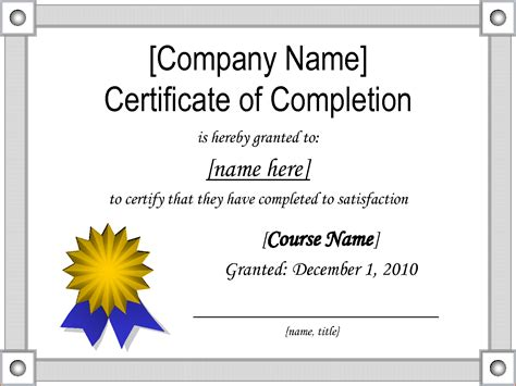 sample certificate  completion teknoswitch