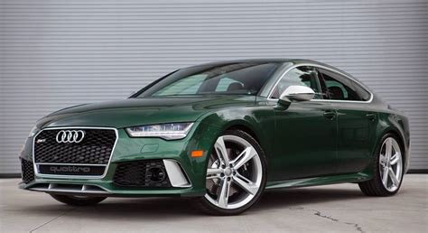 verdant green audi rs spotted  sale
