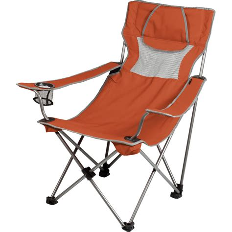 picnic time reclining c chair picnic time csite chair burnt orange gray 806 00 103