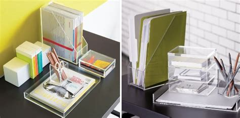 acrylic desk accessories maximize your space with acrylic furniture
