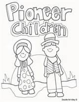 Coloring Children Pioneer Template sketch template