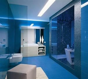 deco salle de bain bleu et blanc With salle de bain bleu et blanc