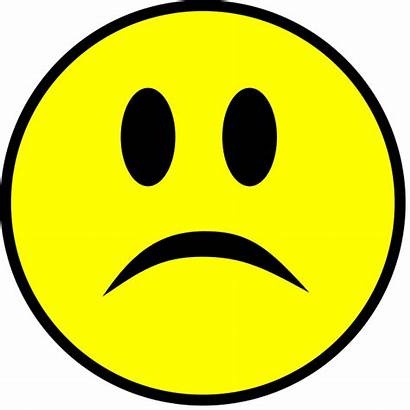 Sad Smiley Simple Yellow Svg Pixels Wikimedia