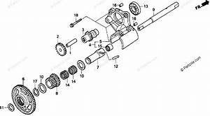 Honda Motorcycle 1998 Oem Parts Diagram For Reverse Gear