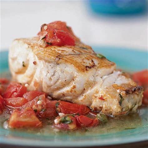 grouper baked recipes tomato sauce chunky recipe barramundi cooking myrecipes fish oven bake basil capers lemon fillets cook fresh food