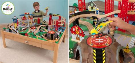kidkraft train table costco kidkraft airport express train set and table 114 99 with