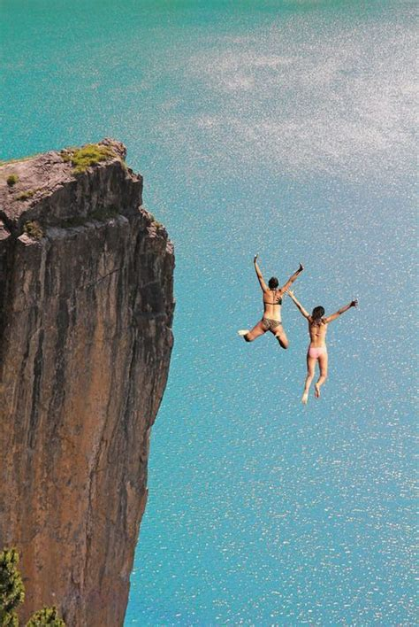 cliff jumping  sea lovely turquoise ocean  ocean