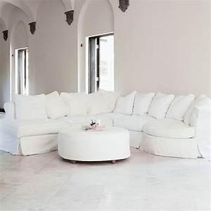 le canape d39angle arrondi comment choisir la meilleure With tapis de souris personnalisé avec canape blanc taupe