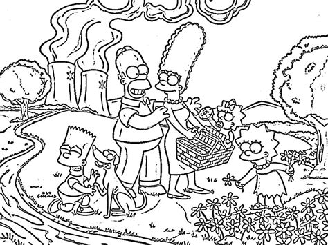 De Simpsons Kleurplaten by The Simpsons Coloring Pages Wallpaperxy
