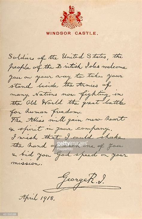 thank you letter the letter written by king george v welcoming american 7904