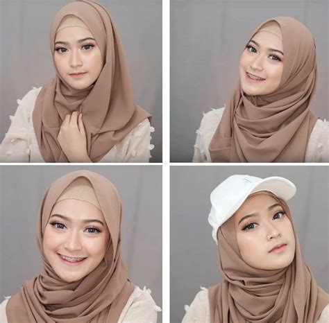 tutorial jilbab pashmina  simple  tetapi tetap