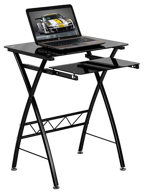 glass computer desks for small spaces glass computer desks for small spaces black tempered glass