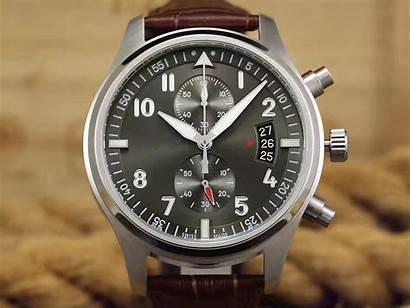 Wristwatches Watches Military Mens Chronograph Pilot Quartz
