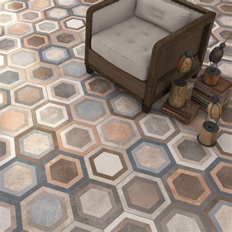 floor tile and decor carrelage hexagonal tomette décor 23x26 6cm bushmills 0
