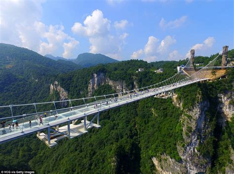 ring for 39 s and highest glass bridge opens in china 39 s