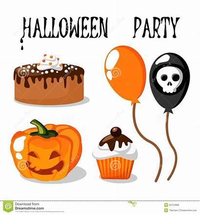 Halloween Party Balloons Pumpkin Funny Clipart Royalty