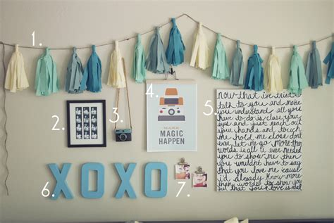 diy blue room decor pocketful of pretty cheap easy bedroom wall