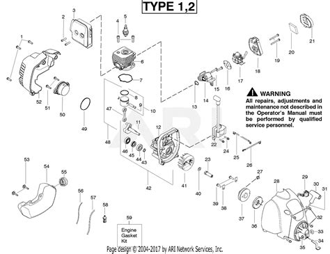 Eater Diagram by Poulan Fl20c Gas Trimmer Type 2 Parts Diagram For Engine