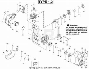 Poulan Fl20c Gas Trimmer Type 2 Parts Diagram For Engine