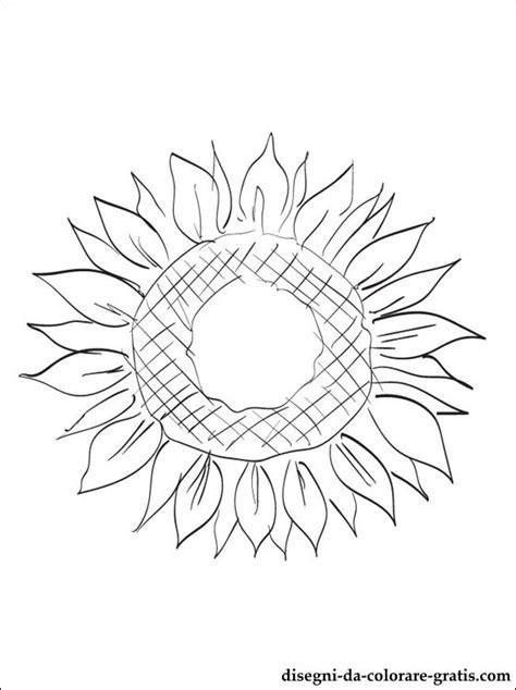 disegni  girasole da colorare disegni da colorare gratis