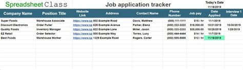 job application tracker template  google sheets