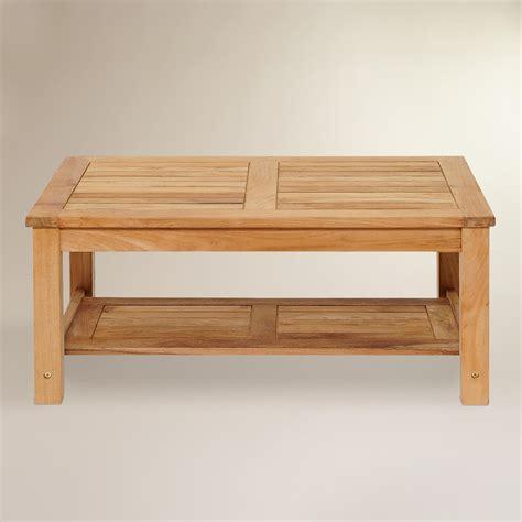 teak outdoor coffee table sawarna teak outdoor coffee table world market