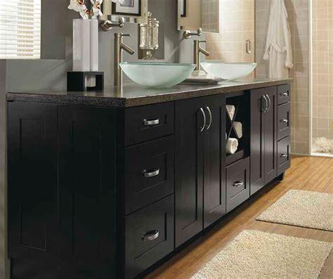 contemporary black bathroom cabinets