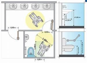 Largeur Porte Pmr : accessibilit am nager un wc accessible pour handicap seton fr ~ Melissatoandfro.com Idées de Décoration