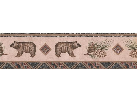 bear animal wallpaper border wlb