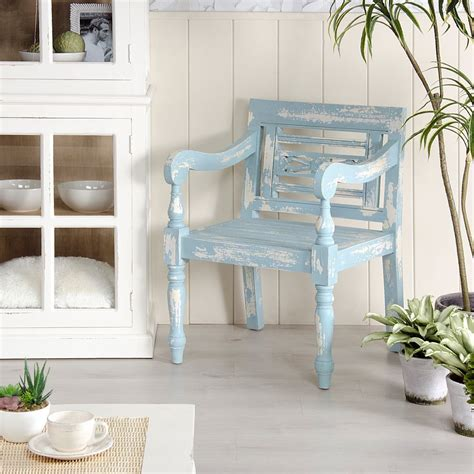 poltrona shabby chic poltrona legno azzurro shabby chic mobili legno massello