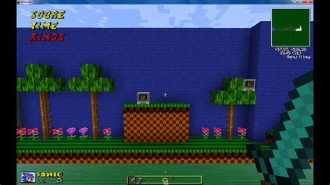 mapa  sonic  texture pack   minecraft
