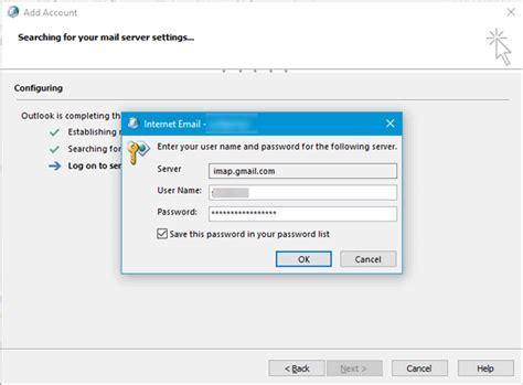 keeps asking for password outlook не удается подключиться к gmail время истекло