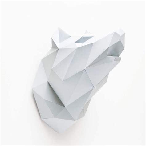 jeux de filles cuisine kit origami diy tête de loup assembli