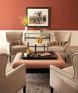 40 idees pour la decoration magnifique en couleur corail With idee deco salon sejour photo