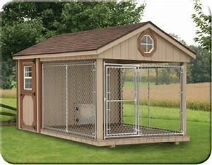 Amish dog kennels for sale in nj b l woodworking for Dog run outdoor kennel house