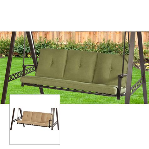 lowes 3 person swing replacement cushion beige garden winds