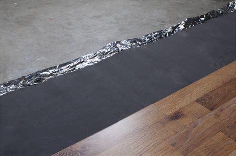 moisture barrier underlayment concrete laminate flooring installation subfloor preparation types and requirements