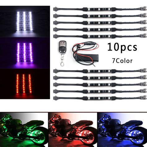 Set Led Lu Rgb 10pcs set dc 12v neon led light 7color rgb